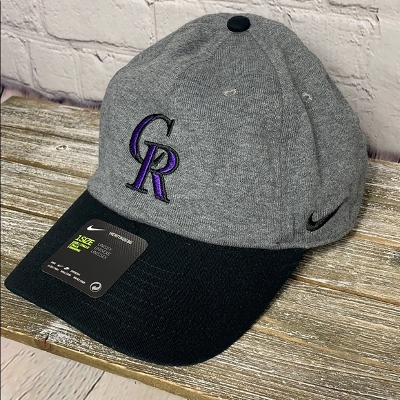 brand new bcf2f 8133c Nike Colorado Rockies Unisex Baseball Hat One Size